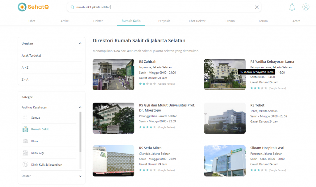 Rumah Sakit Jakarta Selatan