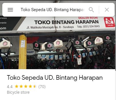 Review Toko Sepeda Bintang Harapan