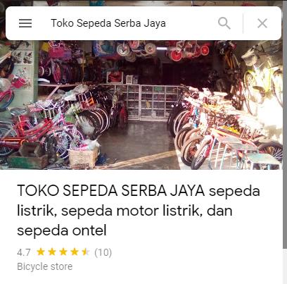 Review Toko Sepeda Serba Jaya